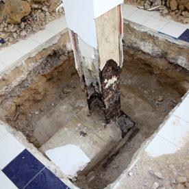 Obra de Reparación de pilares en Edificio Oca