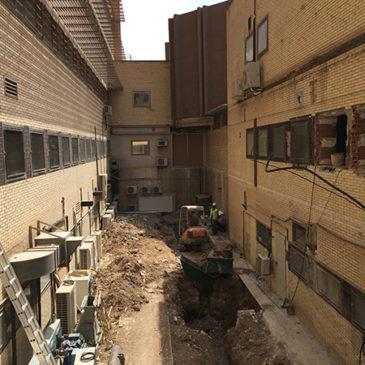 Comienzan las obras de la Ampliación y Remodelación de Urgencias en el Hospital de Elche, Fase 1