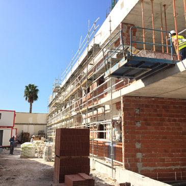 Continúan las obras en el Centro de Salud de Rabaloche