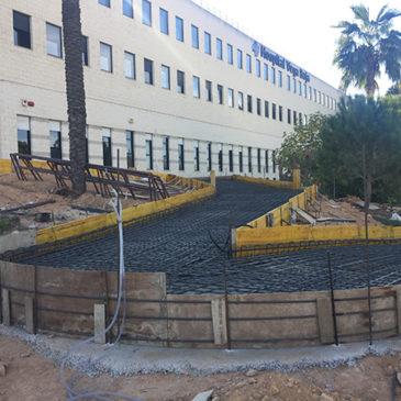Comienzan las obras de la Rampa y Reurbanización del Acceso a Consultas Externas del Hospital Vega Baja