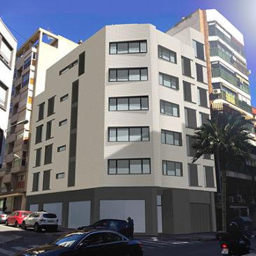Imágenes digitales de edificio de viviendas en Alicante